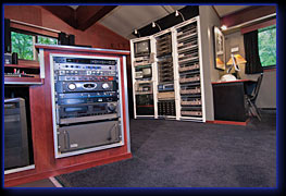 Northwoods Media Editing Suite equipment racks